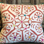 Vintage Applique Cushion from Barmer, Rajasthan